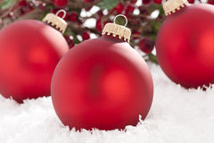 Shiny Red Christmas Ornament Stock Images