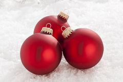Shiny Red Christmas Ornament Royalty Free Stock Images
