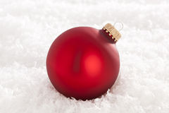 Shiny Red Christmas Ornament Stock Photo