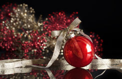 Shiny Red Christmas Ornament Royalty Free Stock Photo