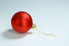 Shiny Red Christmas Tree Ornament Alone Royalty Free Stock Image