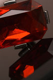 Shiny red crystal bracelet reflexion Royalty Free Stock Images