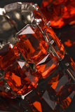 Shiny red crystal bracelet reflexion Royalty Free Stock Photos