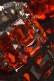 Shiny red crystal bracelet reflexion. Shiny red crystal bracelet ans reflexion Royalty Free Stock Photos