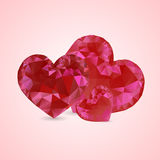 Shiny red crystal heart Royalty Free Stock Image
