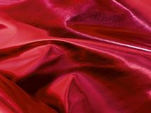Shiny Red Decoration Fabric Royalty Free Stock Image