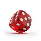 Shiny red dice. On the white background Royalty Free Stock Images