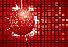 Shiny red disco ball Stock Image