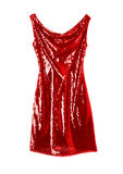 Shiny Red Evening Dress Stock Image