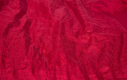 Shiny red fabric taffeta background Royalty Free Stock Photo