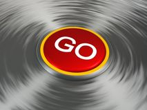 Shiny red Go button Royalty Free Stock Image