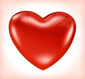 Shiny red heart Royalty Free Stock Image