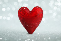 Shiny red heart background Royalty Free Stock Photo