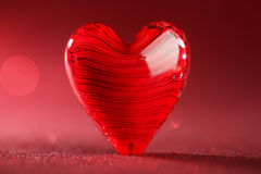 Shiny red heart background Royalty Free Stock Photos