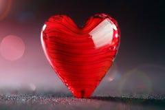 Shiny red heart background Stock Photo