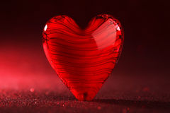 Shiny red heart background Stock Photography