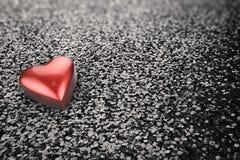 Shiny red heart shape Stock Photography