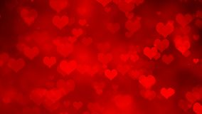 Shiny Red Heart Valentines Day Background. NHeart Abstract Background vector illustration