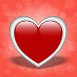Shiny Red Heart Stock Photo