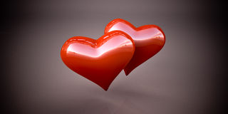 Shiny red hearts Royalty Free Stock Image