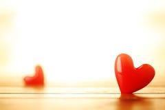 Shiny red hearts Royalty Free Stock Photography