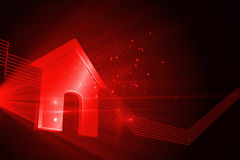 Shiny red house Stock Image