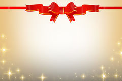 Shiny red long ribbon, abstrack background Stock Image