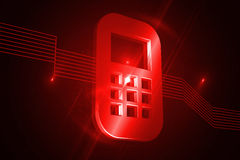 Shiny red mobile phone Royalty Free Stock Photo