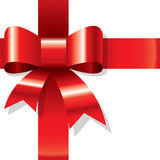 Shiny red ribbon Stock Image