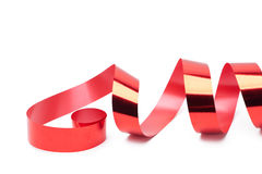Shiny red ribbon for gift wrapping Stock Image
