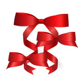 Shiny red ribbon. Vector illustration Royalty Free Stock Images