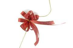 Shiny red ribbon. On white background Royalty Free Stock Image
