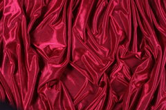 Shiny red satin Stock Photography