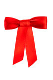 Shiny red satin bow Stock Photo