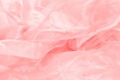 Shiny red satin fabric Stock Photo