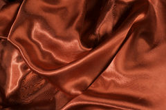 Shiny red satin fabric Stock Photography