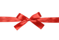 Shiny red satin ribbon Royalty Free Stock Photography