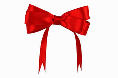 Shiny red satin ribbon Royalty Free Stock Photos