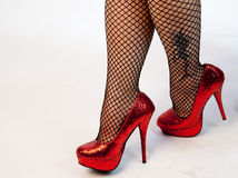 Shiny Red Shoes Stock Photography