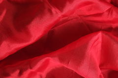 Shiny red silk handkerchief Royalty Free Stock Images