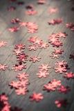 Shiny red snowflakes Christmas decoration Royalty Free Stock Photos