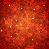 Shiny Red Snowflakes Seamless Pattern for Stock Photo