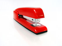 Shiny Red Stapler. A shiny, red, metal stapler Royalty Free Stock Images