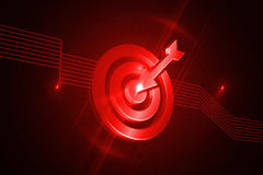 Shiny red target Royalty Free Stock Photography