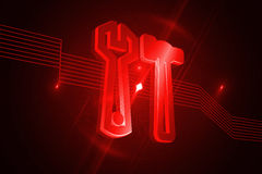 Shiny red tools Royalty Free Stock Images