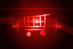 Shiny red trolley Royalty Free Stock Photos