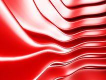 Shiny Red Wave Lines Pattern Background. 3d Render Illustration royalty free illustration