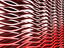 Shiny Red Wave Lines Pattern Background. 3d Render Illustration vector illustration