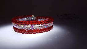 Red and white jewel bracelet Royalty Free Stock Photos
