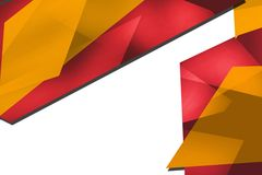 shiny red and yellow geometric shape, abstract background Stock Photos